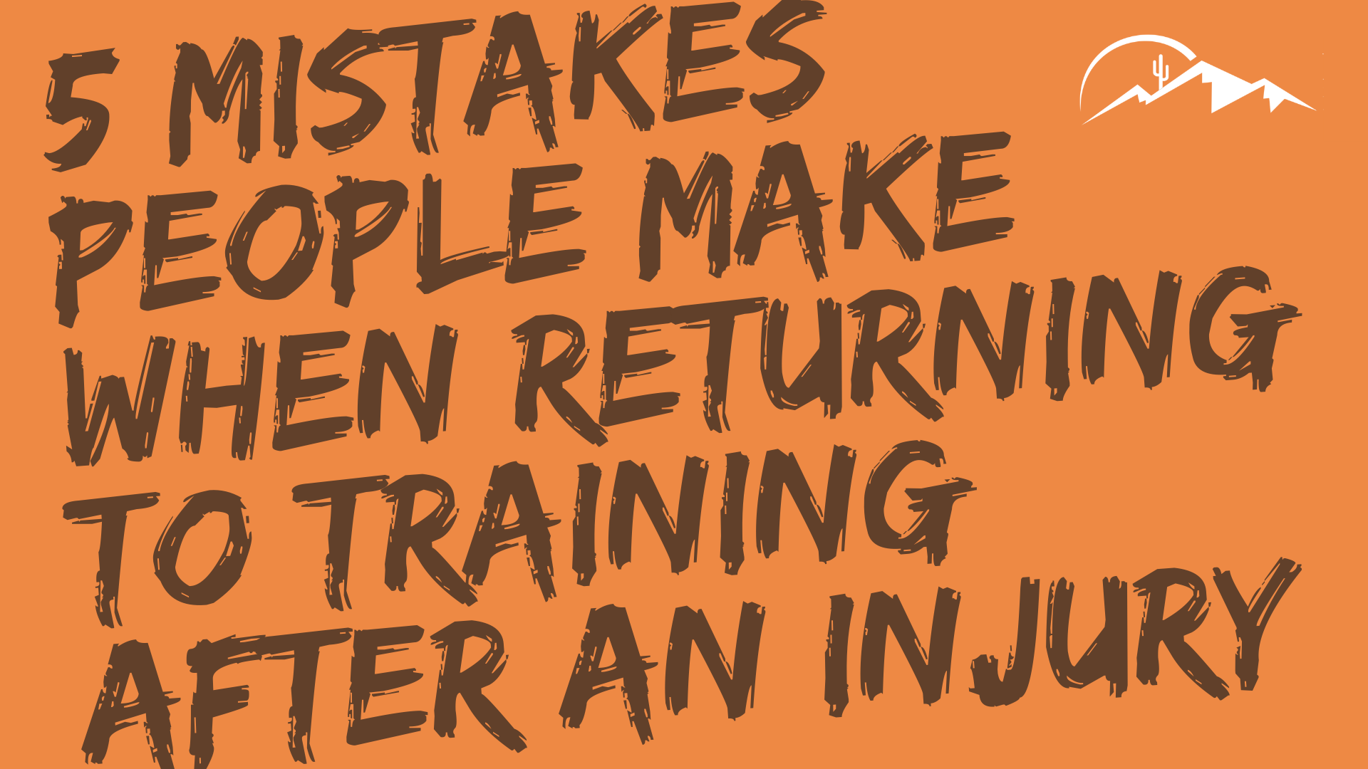 5 mistakes people make when returning to training after an injury